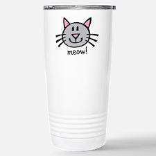 Lil Grey Cat Stainless Steel Travel Mug