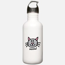 Lil Grey Cat Water Bottle