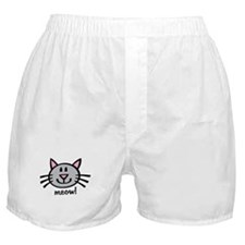 Lil Grey Cat Boxer Shorts