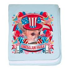 American Pride Chihuahua baby blanket