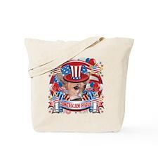 American Pride Chihuahua Tote Bag