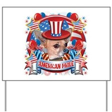 American Pride Chihuahua Yard Sign