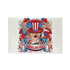 American Pride Chihuahua Rectangle Magnet (10 pack