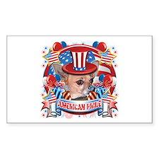 American Pride Chihuahua Decal