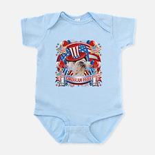 American Pride Bulldog Infant Bodysuit