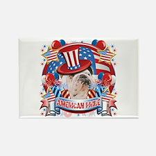 American Pride Bulldog Rectangle Magnet