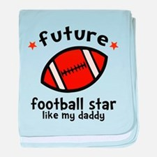 Football Daddy baby blanket