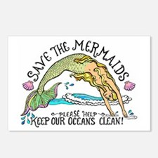 Save the Mermaids Postcards (Package of 8)