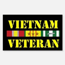 Vietnam Veteran 3 Star Sticker (Rectangle)