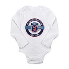 10th Mountain with CIB Long Sleeve Infant Bodysuit