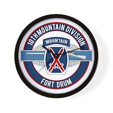 10th Mountain with CIB Wall Clock
