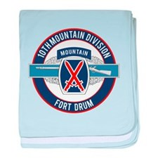 10th Mountain with CIB baby blanket
