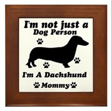 Dachshund mommy Framed Tile
