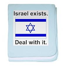 Israel Exists baby blanket