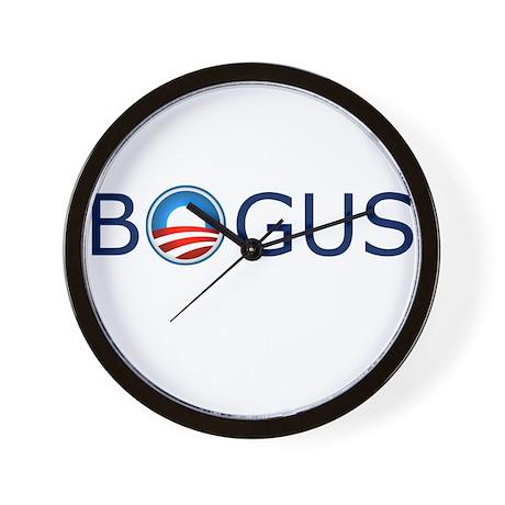 Bogus Blue Text Wall Clock