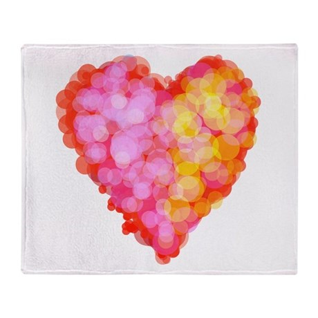 Stippled Heart Throw Blanket