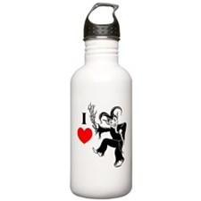 I *heart* Krampus Water Bottle