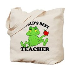 Frog Teacher Tote Bag