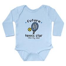 Tennis Star - Dad Long Sleeve Infant Bodysuit
