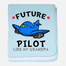 Pilot Like Grandpa baby blanket