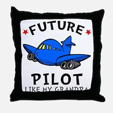 Pilot Like Grandpa Throw Pillow