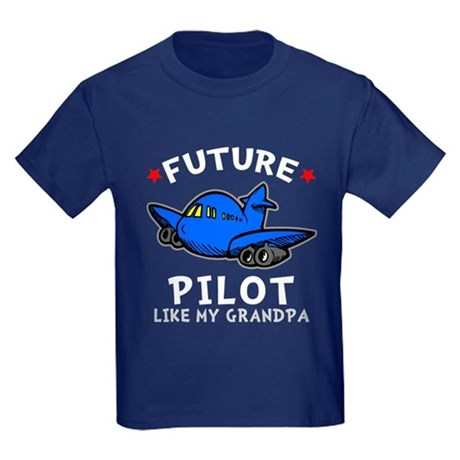 Pilot Like Grandpa Kids Dark T-Shirt