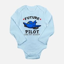 Pilot Like Daddy Long Sleeve Infant Bodysuit