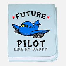 Pilot Like Daddy baby blanket