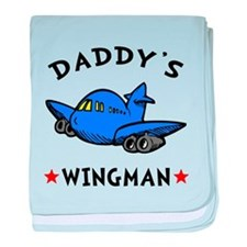 Daddy's Wingman baby blanket