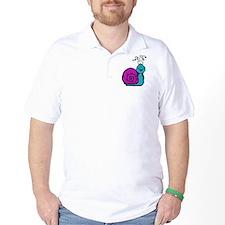 Purple Snail Golf Shirt