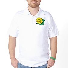 Green Snail Golf Shirt