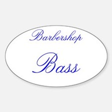 Barbershop Bass Oval Decal