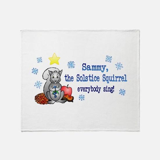 Sammy Squirrel Throw Blanket