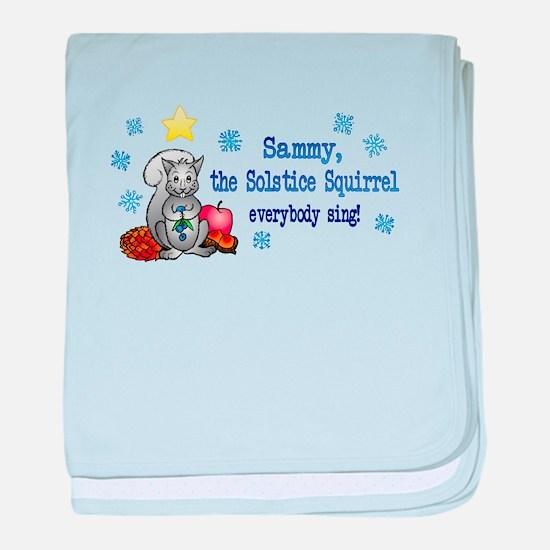 Sammy Squirrel baby blanket
