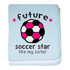 Soccer Sister baby blanket