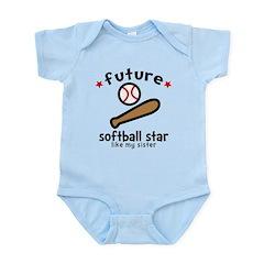 Softball Sis Infant Bodysuit