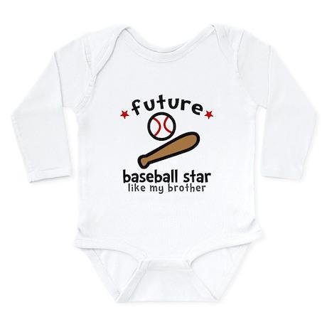 Baseball Brother Long Sleeve Infant Bodysuit