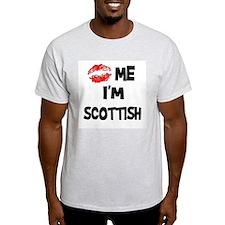 Kiss Me I'm Scottish Ash Grey T-Shirt