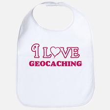 I Love Geocaching Baby Bib