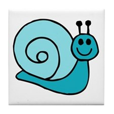 Blue Snail Tile Coaster