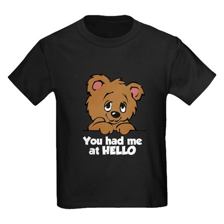 Bear Hello Kids Dark T-Shirt