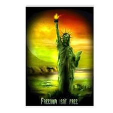 FREEDOM ISN'T FREE LIBERTY Postcards (Package of 8