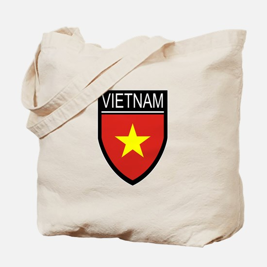 Vietnam Flag Patch Tote Bag