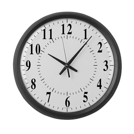 Traditional Lines Large Wall Clock