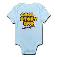 Cool Story Bro (orange) Infant Bodysuit