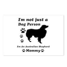 Australian shepherd mommy Postcards (Package of 8)