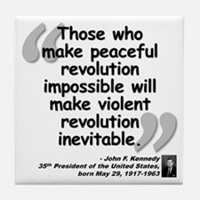 Kennedy Revolution Quote Tile Coaster