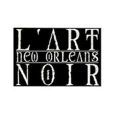 l'art Noir Rectangle Magnet (10 pack)