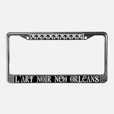 l'art Noir License Plate Frame