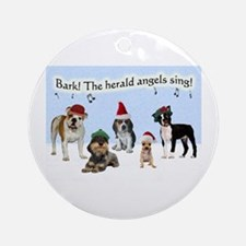 Bark The Herald Angels Sing Christmas Ornament